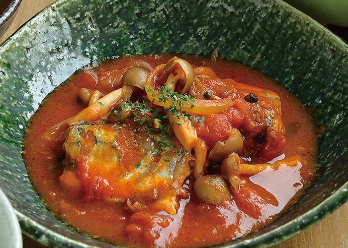 さんまのトマト煮込み
