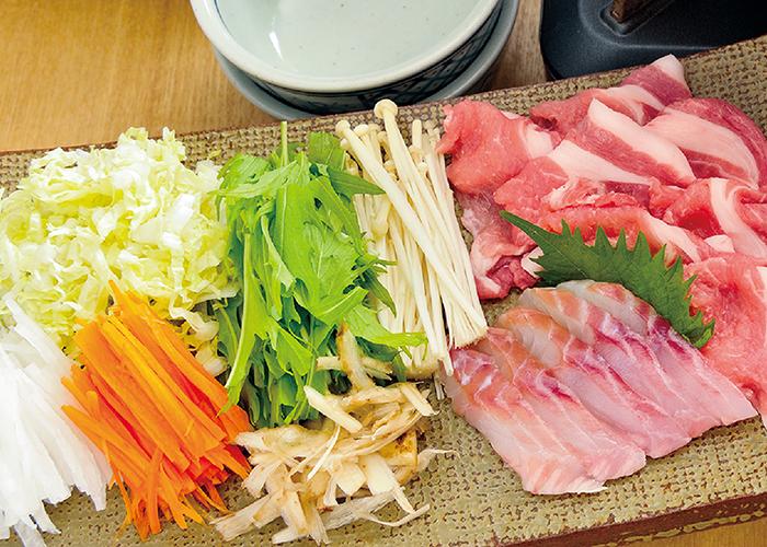 せん切り野菜のしゃぶしゃぶなべ