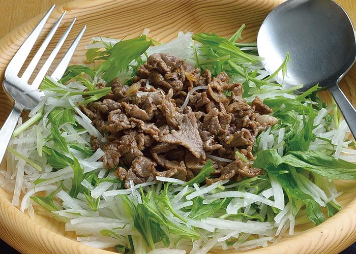 大根と牛肉のサラダ